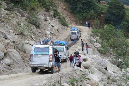 Kathmandu- Salleri Jeep/Bus ride